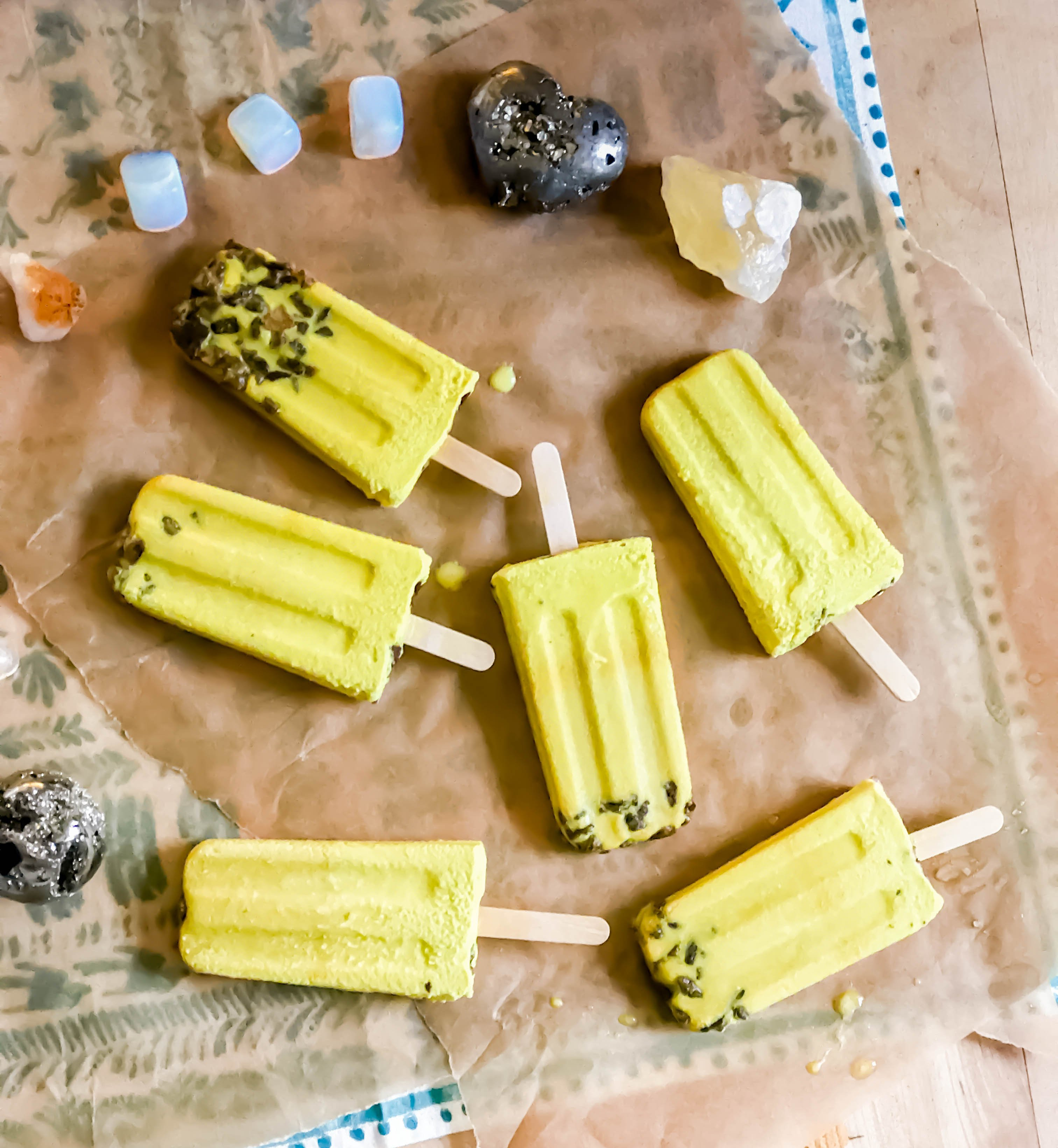 Golden Turmeric Popsicles