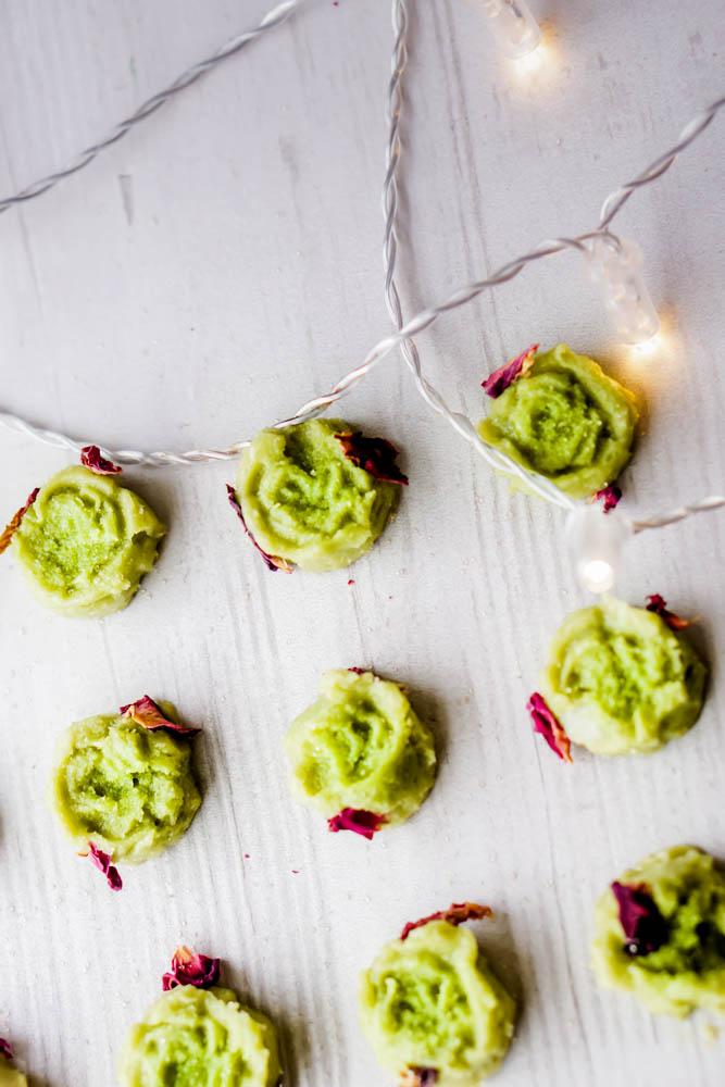 rose avocado peppermint fudge