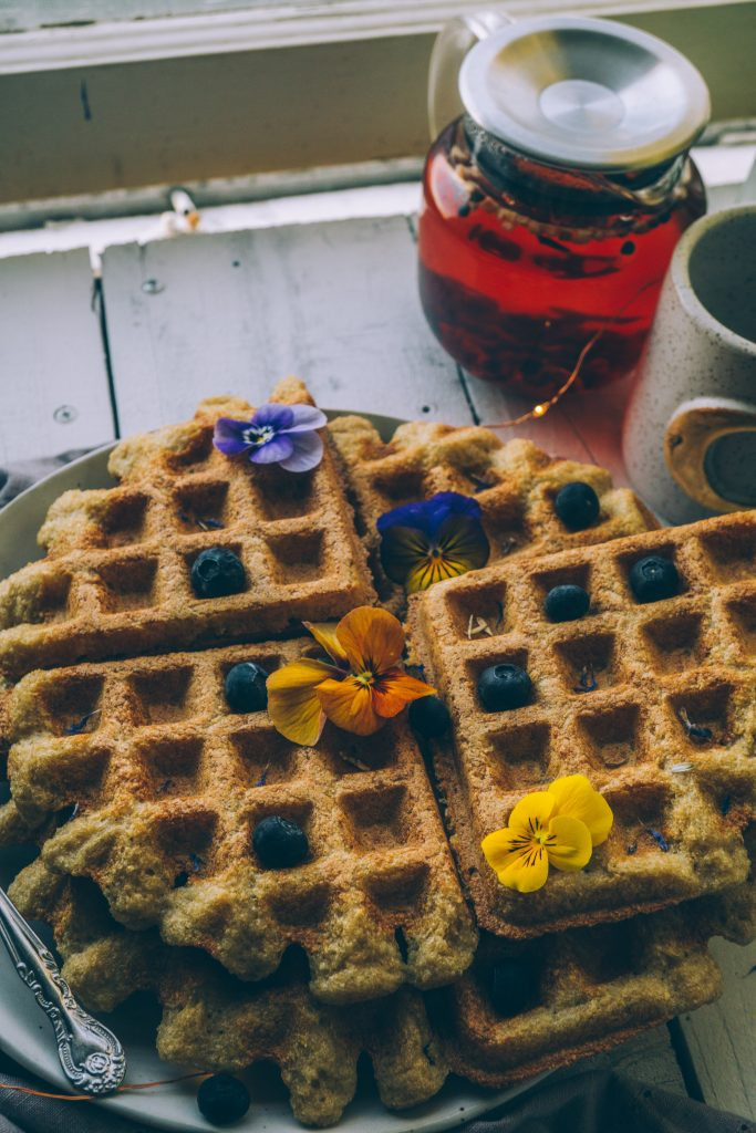 Sprouted Buckwheat Amaranth Millet Hippie Waffles