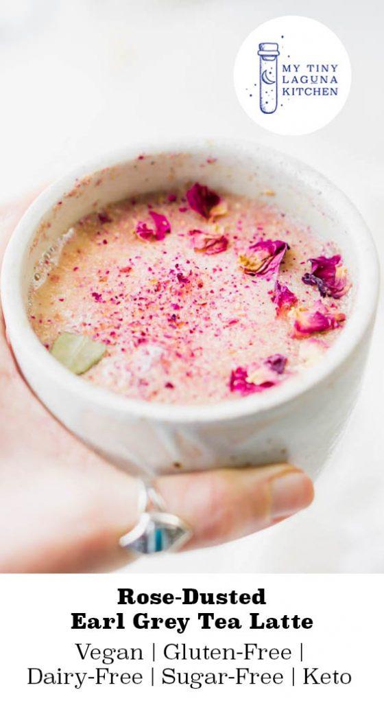 Rose Dusted Earl Grey Tea Latte
