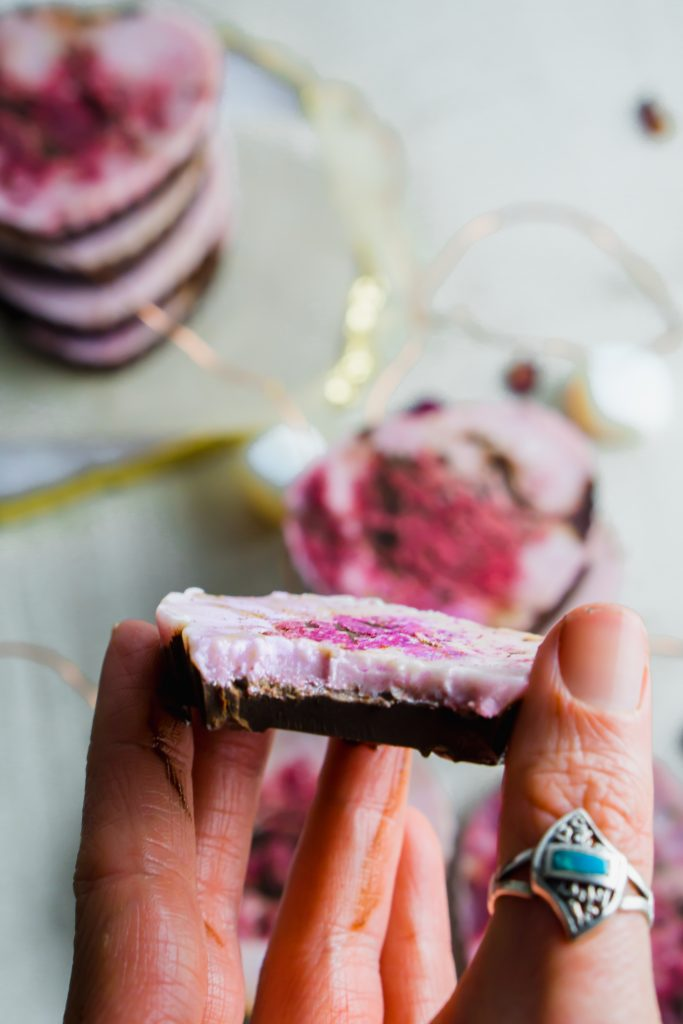 dark chocolate berry coconut butter cups