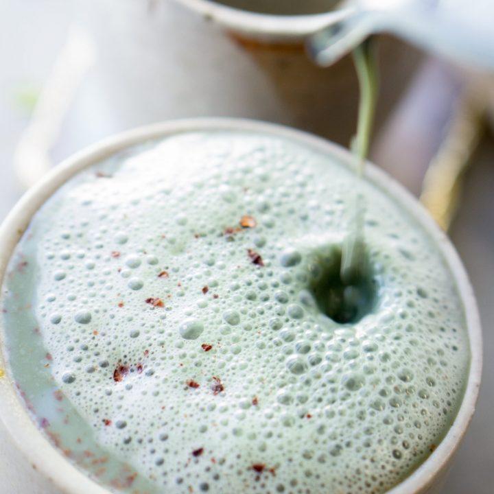 shamrock mint superfood latte
