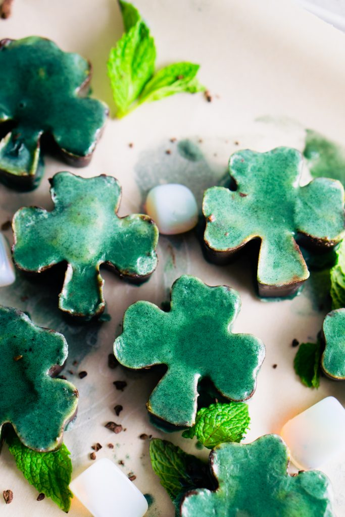 shamrock coconut butter chocolate fudge