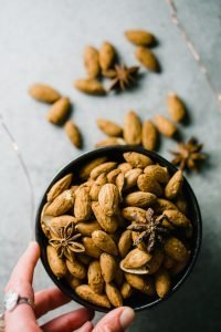 sprouted chai-spiced almonds