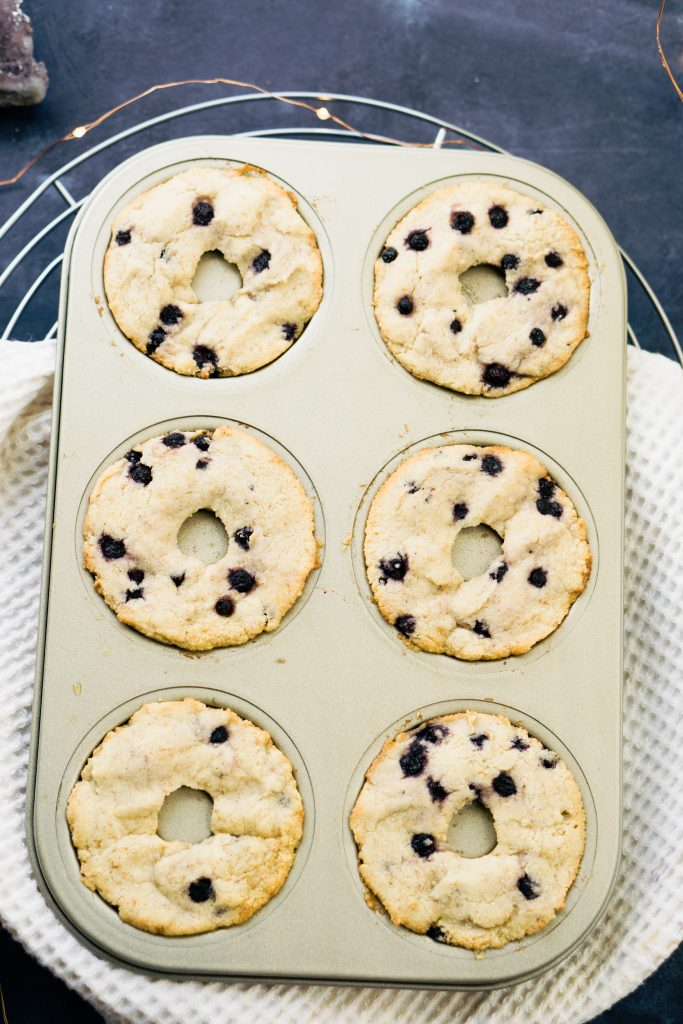 lemon cream glazed blueberry muffin donuts