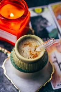 coconut yerba mate latte