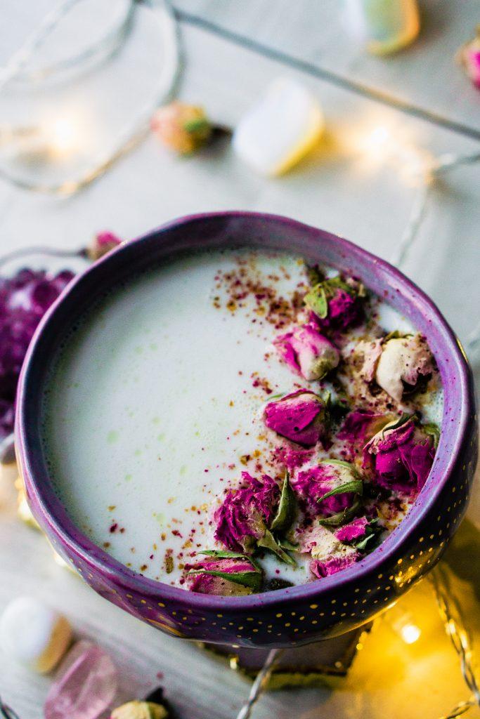 Rose Cardamom Almond Moon Milk