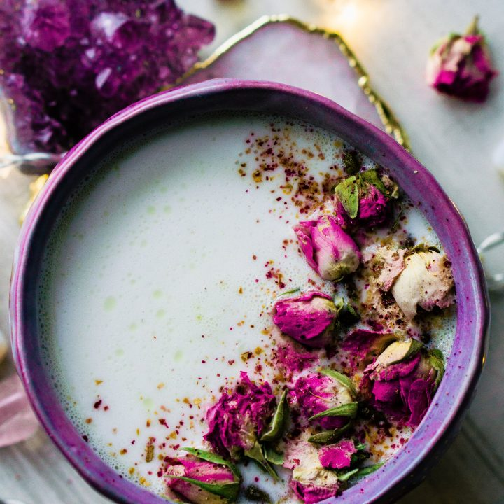Rose Cardamom Almond Moon Milk