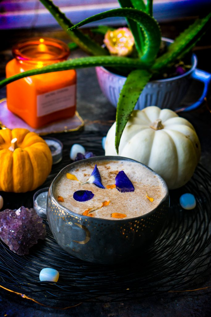 pumpkin chai spiced moon milk