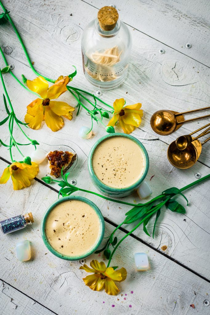 Spring Detox Liver Healing Nettle Herbal Coffee Latte