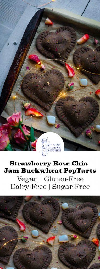 Homemade Strawberry Rose Chia Jam Buckwheat PopTarts