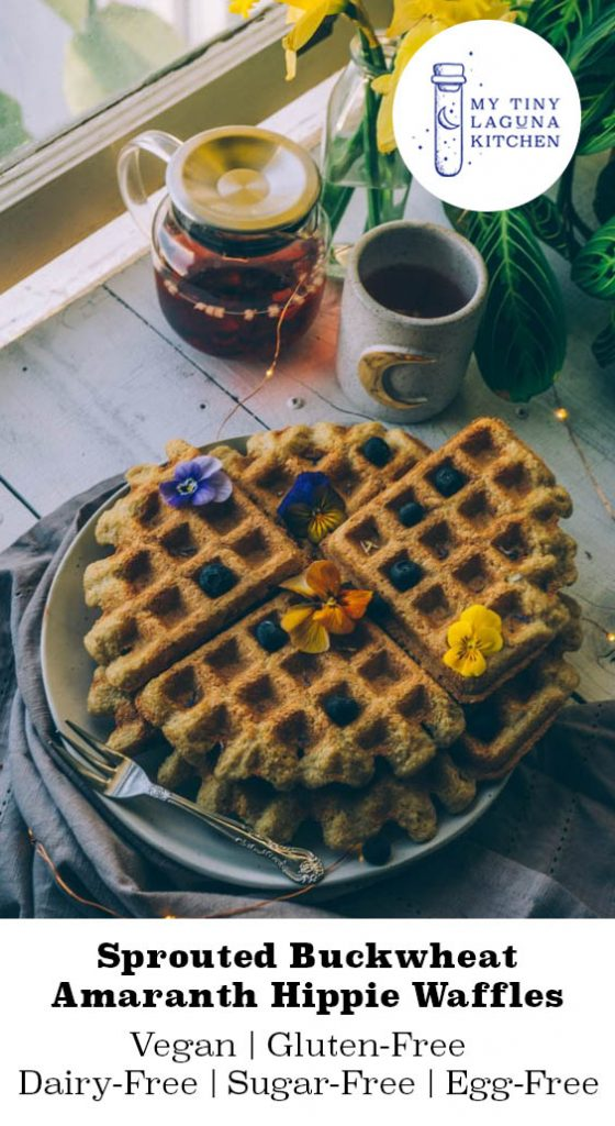 Sprouted Buckwheat Amaranth Hippie Waffles