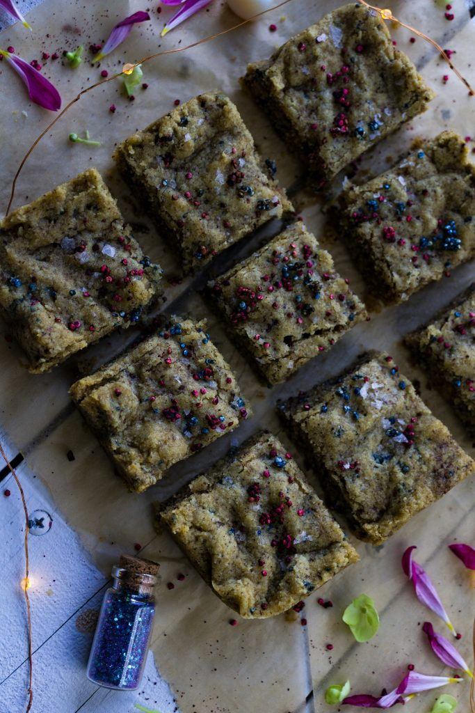 Fairy Dust Sprinkled Cake Batter Blondies