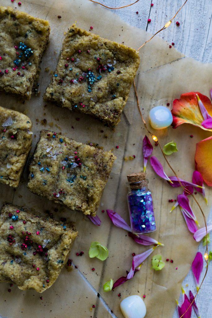 Fairy Dust Sprinkled Cake Batter Blondies