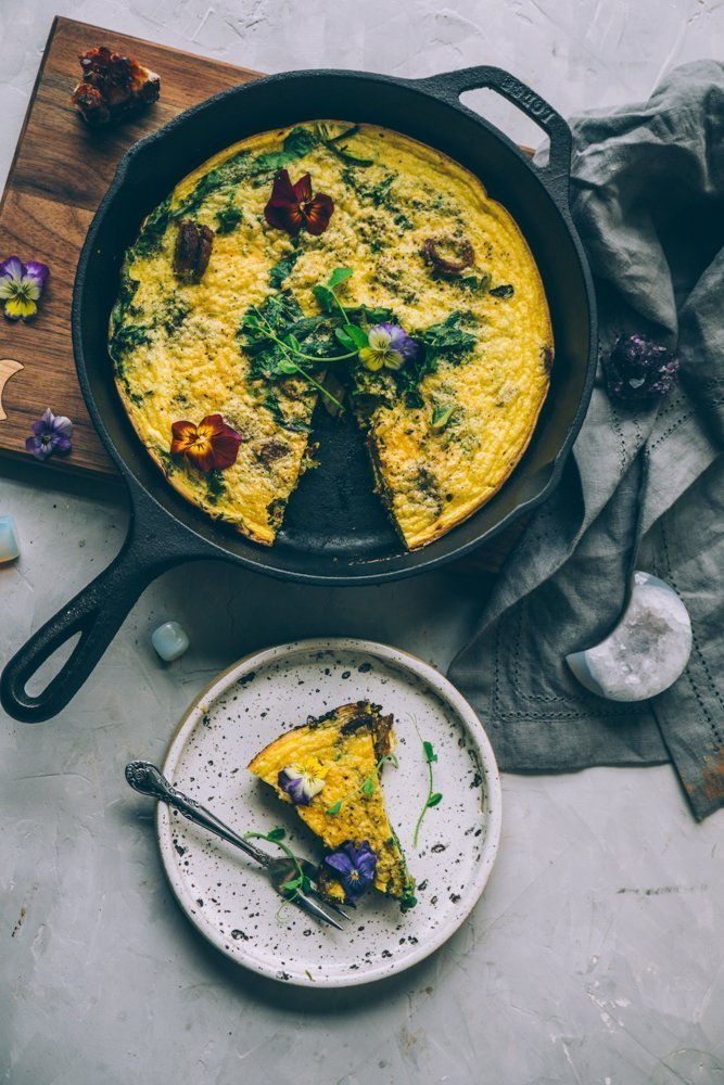Spring Broccolini and Greens Frittata