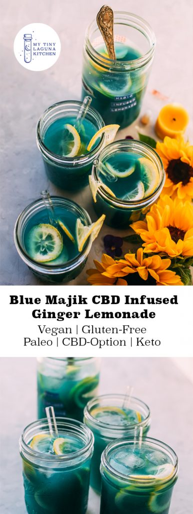 Blue Majik CBD Infused Ginger Lemonade