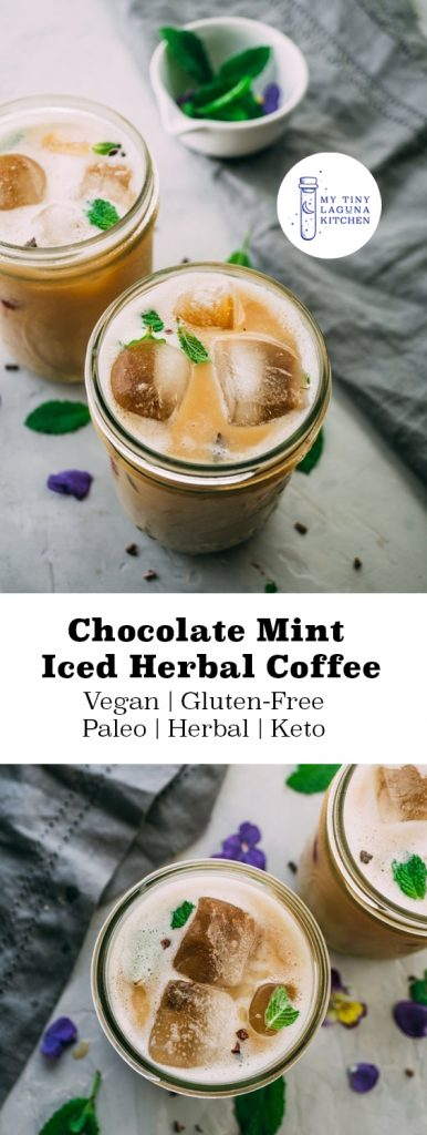 Chocolate Mint Iced Herbal Coffee