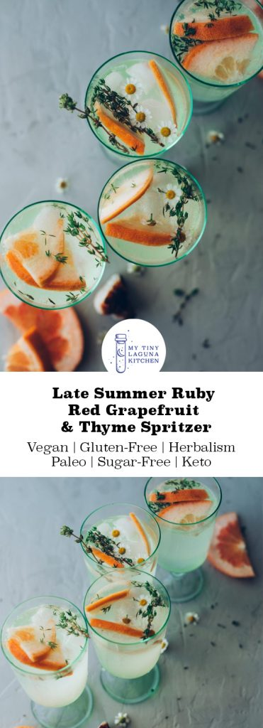 Late Summer Ruby Red Grapefruit & Thyme Spritzer