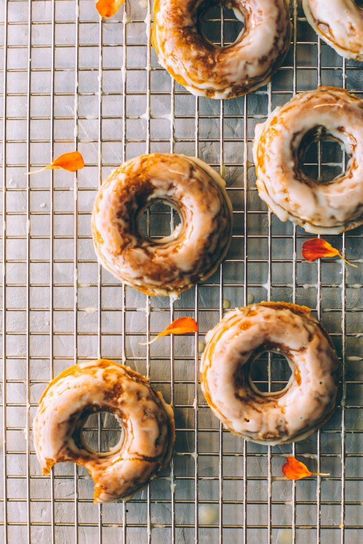 Pumpkin Spiced Donuts with CBD Coconut Glaze