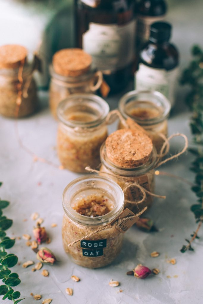 Rose & Oat Salt Scrub