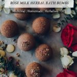 Rose Milk Herbal Bath Bombs