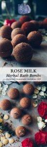 Rose Milk Herbal Bath Bombs