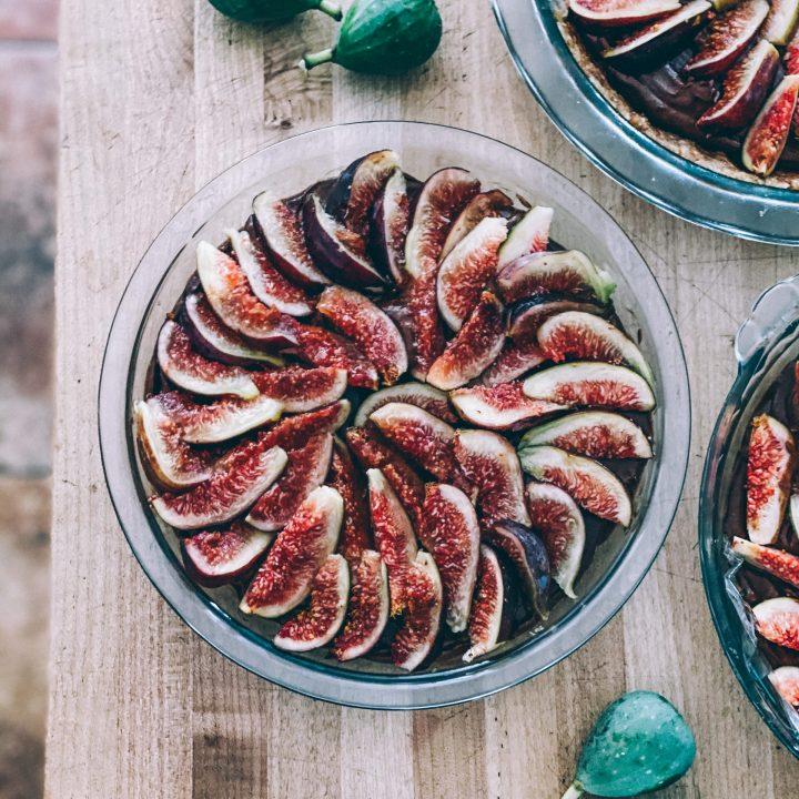 No-bake Chocolate Avocado Pie with Figs