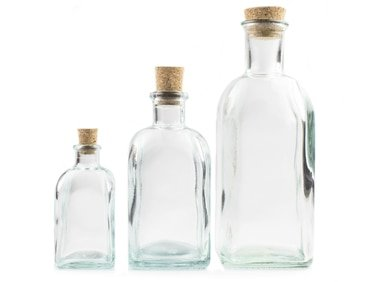 Cork Top Glass Bottles