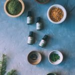 Each individual ingredient for the winter spiced bath salts