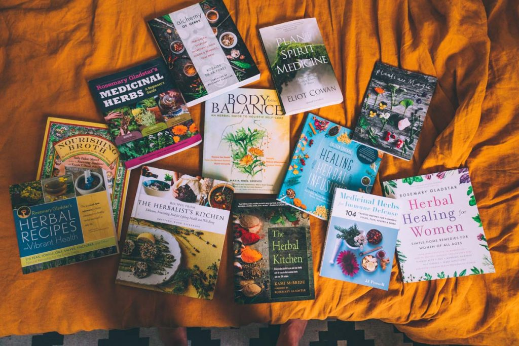 A few of my recommended herbalism books.