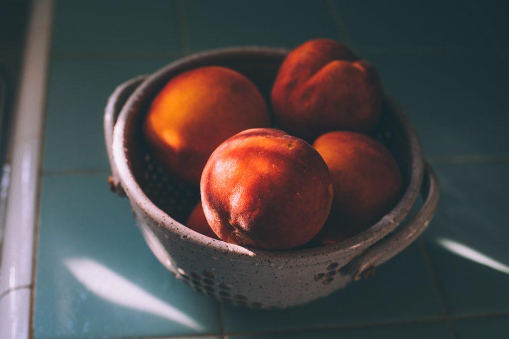 Bowl of fresh peaches!