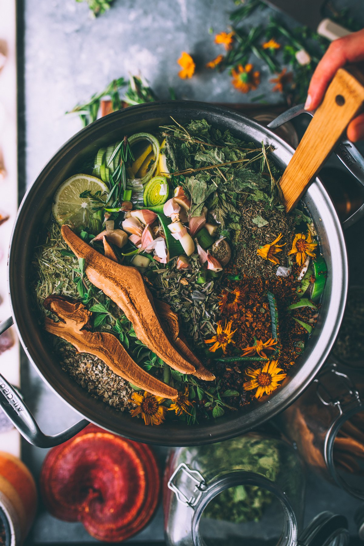 Nourishing Bone Broth Recipe in the making