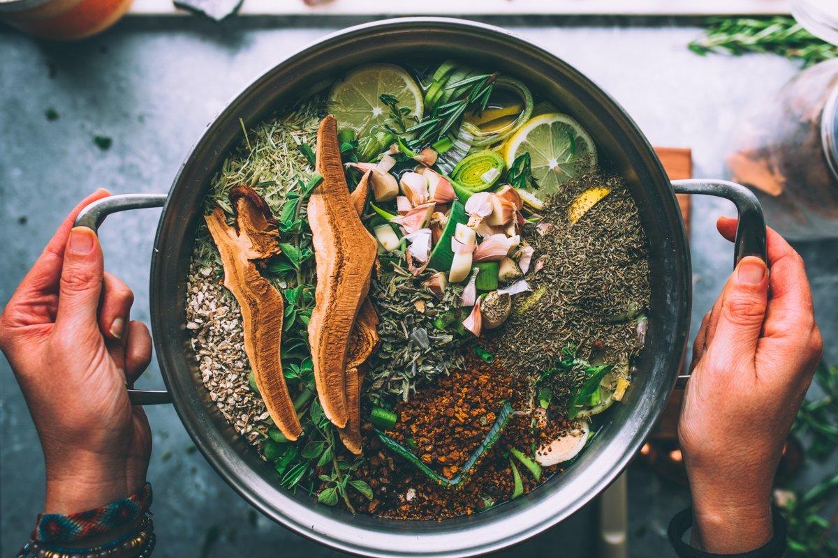Nourishing Bone Broth Recipe and Benefits in the making.